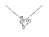 Wind And Fire Music Note Heart Dainty Pendant Necklace With 18 Inch Adjustable Chain style: CGWF3205S