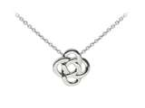 Wind And Fire Celtic Knot Dainty Pendant Necklace With 18 Inch Adjustable Chain style: CGWF3207S