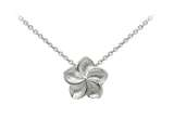 Wind And Fire Plumeria Dainty Pendant Necklace With 18 Inch Adjustable Chain style: CGWF3208S