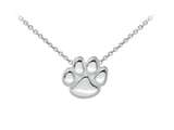 Wind And Fire Paw Print Dainty Pendant Necklace With 18 Inch Adjustable Chain style: CGWF3209S