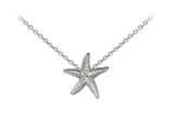 Wind And Fire Starfish Dainty Pendant Necklace With 18 Inch Adjustable Chain style: CGWF3210S