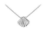 Wind And Fire Seashell Dainty Pendant Necklace With 18 Inch Adjustable Chain style: CGWF3211S