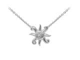 Wind And Fire Sun With Face Dainty Pendant Necklace With 18 Inch Adjustable Chain style: CGWF3212S