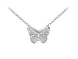 Wind And Fire Butterfly Dainty Pendant Necklace With 18 Inch Adjustable Chain style: CGWF3214S