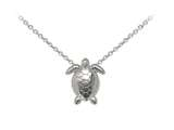 Wind And Fire Sea Turtle Dainty Pendant Necklace With 18 Inch Adjustable Chain style: CGWF3215S