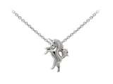 Wind And Fire Unicorn Dainty Pendant Necklace With 18 Inch Adjustable Chain style: CGWF3219S