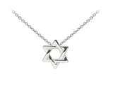 Wind And Fire Star Of David Dainty Pendant Necklace With 18 Inch Adjustable Chain style: CGWF3221S