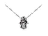 Wind And Fire Hamsa Dainty Pendant Necklace With 18 Inch Adjustable Chain style: CGWF3222S