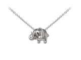 Wind And Fire Elephant Dainty Pendant Necklace With 18 Inch Adjustable Chain style: CGWF3225S