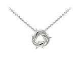 Wind And Fire Dolphins Dainty Pendant Necklace With 18 Inch Adjustable Chain style: CGWF3227S
