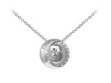 Wind And Fire Celestial Moon and Sun Dainty Pendant Necklace With 18 Inch Adjustable Chain style: CGWF3228S