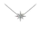 Wind And Fire North Star With Swarovski Crystal Dainty Pendant Necklace With 18 Inch Adjustable Chain style: CGWF3230S