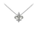 Wind And Fire Fleur-de-lis Dainty Pendant Necklace With 18 Inch Adjustable Chain style: CGWF3233S