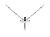 Wind And Fire Cross Dainty Pendant Necklace With 18 Inch Adjustable Chain style: CGWF3235S