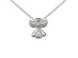 Wind And Fire Filigree Angel Dainty Pendant Necklace With 18 Inch Adjustable Chain style: CGWF3237S