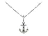 Wind And Fire Anchor Dainty Pendant Necklace With 18 Inch Adjustable Chain style: CGWF3239S