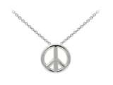 Wind And Fire Peace Sign Dainty Pendant Necklace With 18 Inch Adjustable Chain style: CGWF3241S
