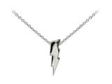 Wind And Fire Lightning Bolt Dainty Pendant Necklace With 18 Inch Adjustable Chain style: CGWF3244S