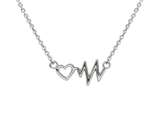 Wind And Fire Heartbeat Dainty Pendant Necklace With 18 Inch Adjustable Chain style: CGWF3309S