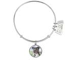 Wind And Fire Pet Collection Expandable Bangle With Pit Bull Terrier Photo Charm style: CGWF764S