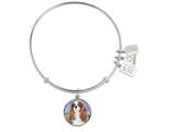Wind And Fire Pet Collection Expandable Bangle With Cavalier King Charles Spaniel Photo Charm style: CGWF766S