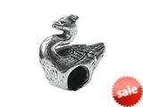 Zable™ Sterling Silver Swan Bead / Charm style: BZ0212