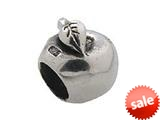 Zable™ Sterling Silver Apple Bead / Charm style: BZ0218