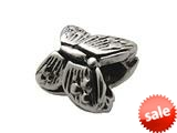 Zable™ Sterling Silver Butterfly, Pointy Wings Bead / Charm style: BZ0236
