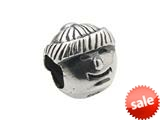 Zable™ Sterling Silver Boy Face Bead / Charm style: BZ0266