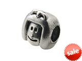 Zable™ Sterling Silver Girl Face Bead / Charm style: BZ0270