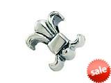 Zable™ Sterling Silver Fleur-De-Lys Bead / Charm style: BZ0287