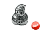 Zable™ Sterling Silver Snowman Bead / Charm style: BZ0291