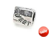"Zable™ Sterling Silver Triangular ""Sweet"" Bead / Charm style: BZ0345"