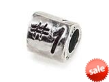 """Zable™ Sterling Silver Triangular """"#1 inch Bead / Charm style: BZ0369"""