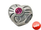Zable™ Sterling Silver October Birthstone Heart Bead / Charm style: BZ0446