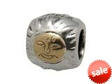 Zable™ Sterling Silver Gold Sun Spacer Bead / Charm style: BZ0629