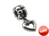 Zable™ Sterling Silver Dangle Heart Bead / Charm style: BZ0701