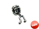 Zable™ Sterling Silver Dangle Music Note Bead / Charm style: BZ0708