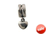 Zable™ Sterling Silver Heart Dangle with Stones Bead / Charm style: BZ0711