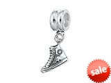 Zable™ Sterling Silver Dangle Sneaker Bead / Charm style: BZ0718