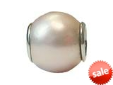 Zable™ Sterling Silver 10Mm Shell Simulated Pearl- Pink Bead / Charm style: BZ0897
