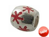 Zable™ Sterling Silver Red Enamel Stars Bead / Charm style: BZ0928