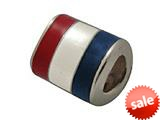 Zable™ Sterling Silver France Enamel Flag Bead / Charm style: BZ0958