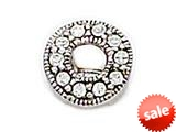 Zable™ Sterling Silver C.Z. Circle Bead / Charm style: BZ1002