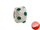 Zable™ Sterling Silver May Crystal Ball Non-oxidized Pandora Compatible Bead / Charm style: BZ1042