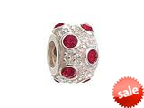Zable™ Sterling Silver July Crystal Ball Non-oxidized Bead / Charm style: BZ1044