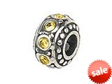 Zable™ Sterling Silver Crystal Birth Month November Bead / Charm style: BZ1060
