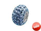 Zable™ Pave Swarovski Crystal Bead March Bead / Charm style: BZ1072