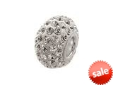 Zable™ Pave Swarovski Crystal Bead April Bead / Charm style: BZ1073