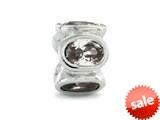 Zable™ Sterling Silver Bezel Set Ovals April Bead / Charm style: BZ1124